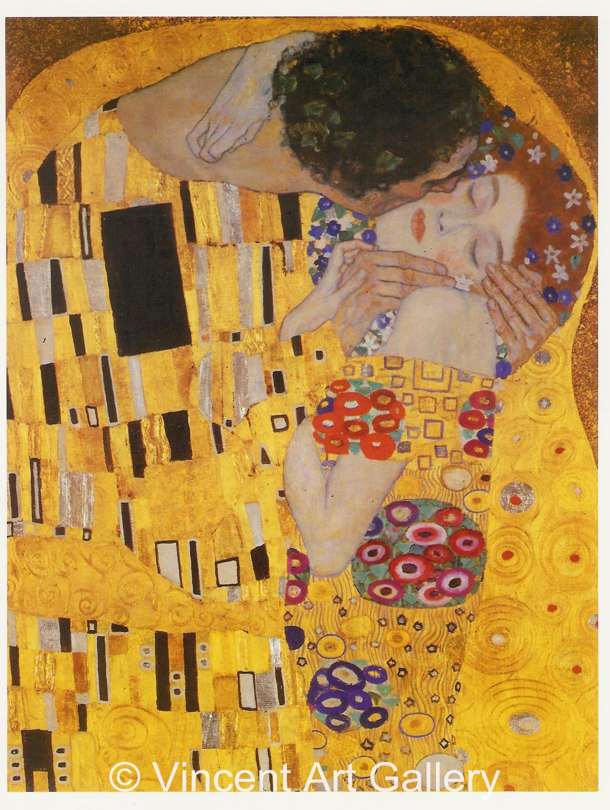 The Kiss by Gustav Klimt - Oil Painting Reproduction