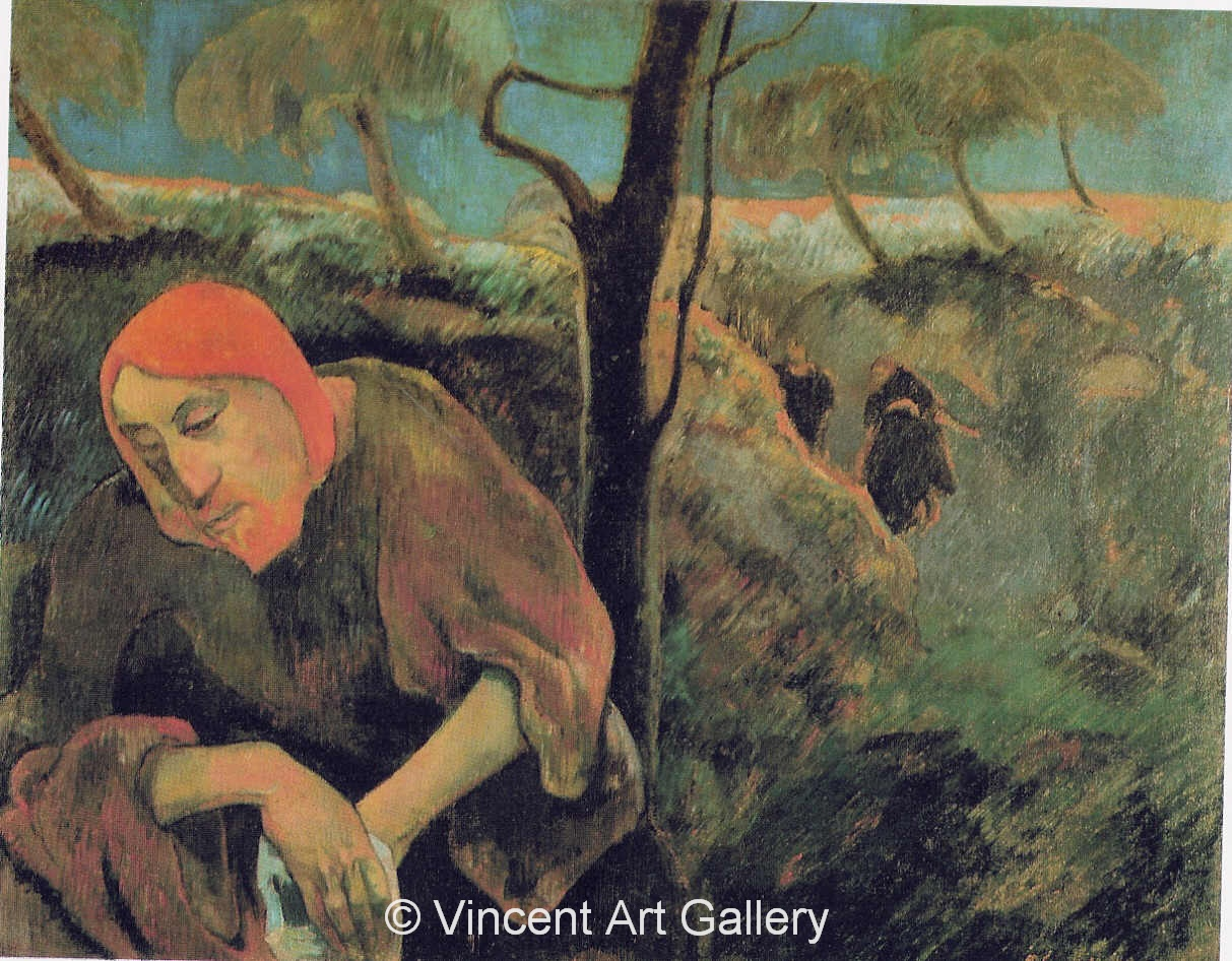 christ in the garden of olives by paul gauguin oil painting reproduction