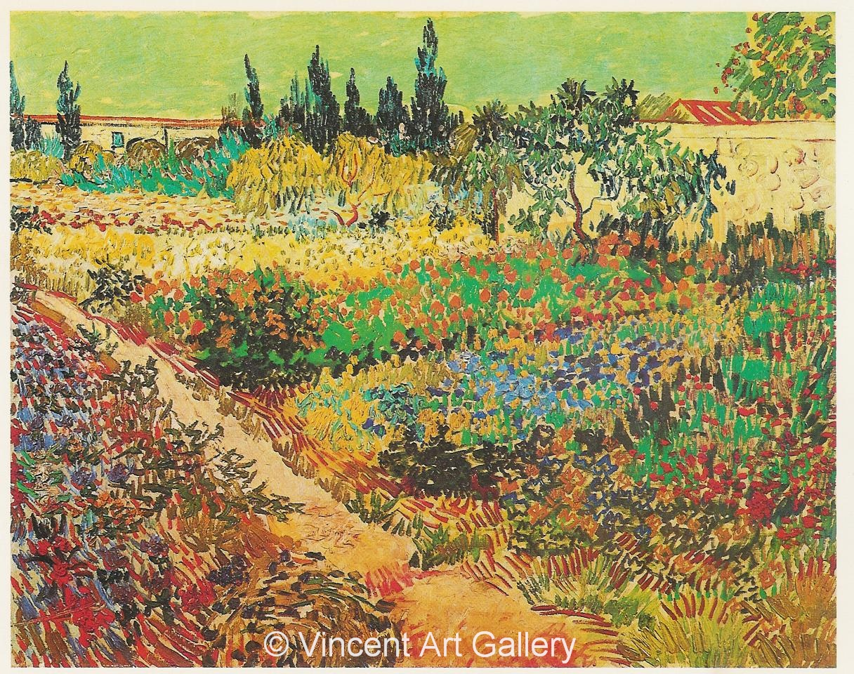 Genial Flowering Garden With Path By Vincent Van Gogh JH1513, Flowering Garden  With Path