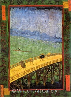Japonaiserie: Bridge in the Rain (after Hiroshige) by Vincent van Gogh