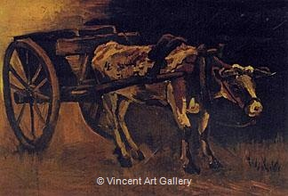 Cart with Red and White Ox, 1884 - Vincent van Gogh